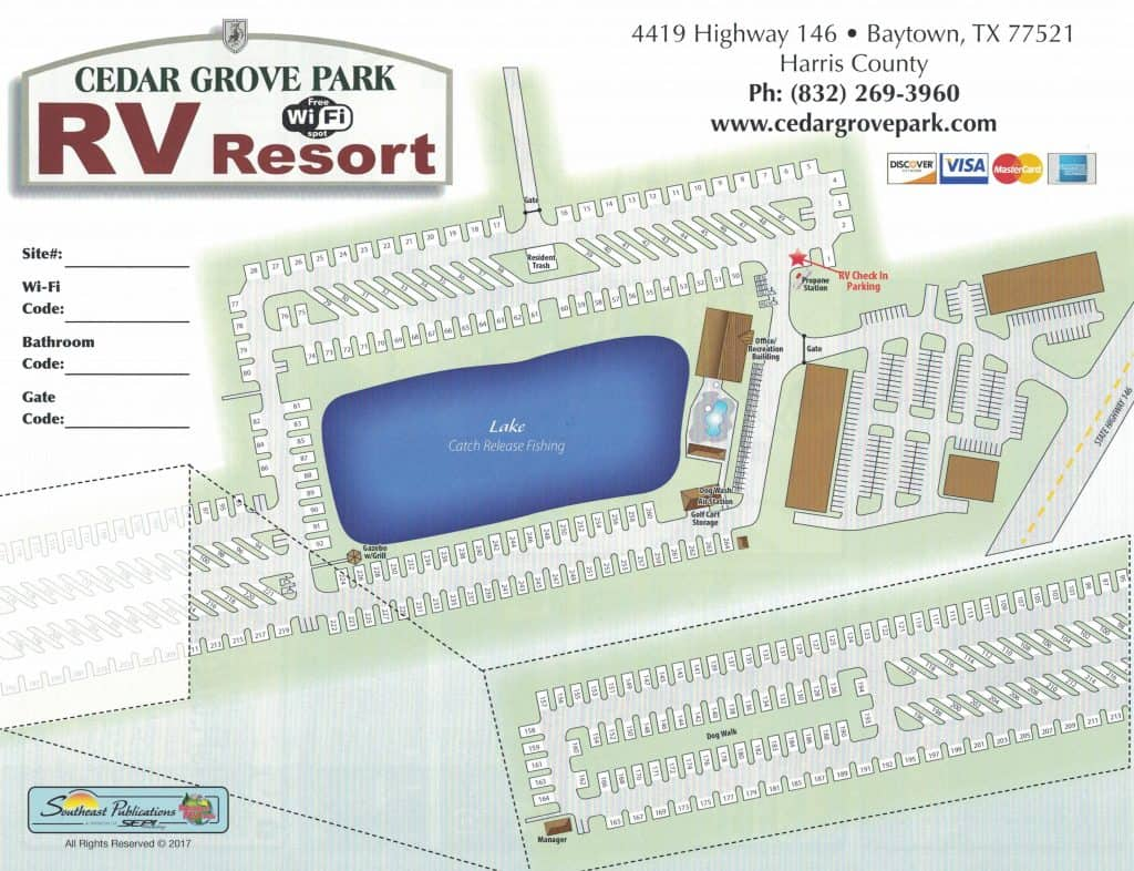 cedar grove rv resort map guide